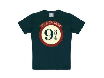 Dětské tričko Harry Potter - Nástupiště 9 3/4 - Hogwarts Express  - modré