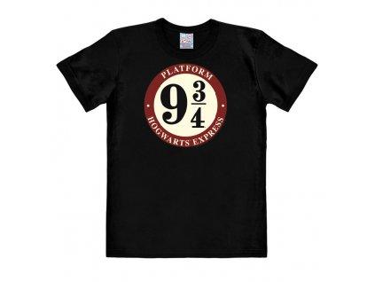 Pánské tričko Harry Potter - Nástupiště 9 3/4 - Easy Fit - černé