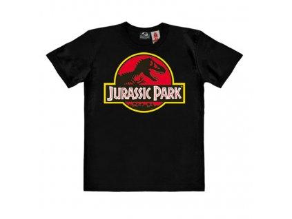 Dětské organické tričko Jurassic Park - Logo - černé