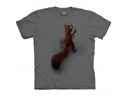 Tričko Veverka leze po tričku