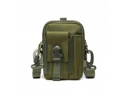 KONO casual malá crossbody taška - army zelená