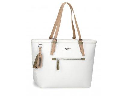 Dámská elegantní kabelka Pepe Jeans Zaida - bílá