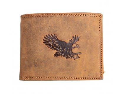 Luxusní kožená peněženka s orlem