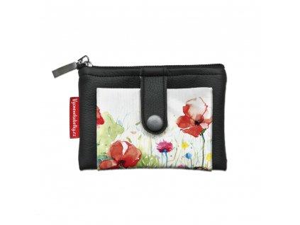 Designová klíčenka/peněženka - Jarní louka