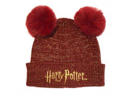 Dětská zimní čepice s bambulkami Harry Potter Logo
