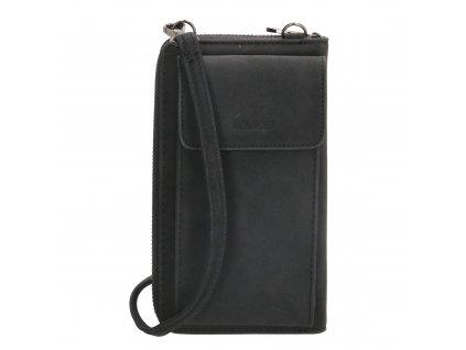 Dámská kabelka na telefon / peněženka s popruhem přes rameno Beagles Rebelle - černá - na výšku