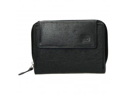 Kožená dámská malá peněženka Double-d - černá
