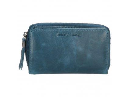 Dámská kožená peněženka Micmacbags - jeansová modrá