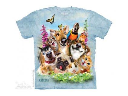 Dětské Tričko Zvířecí Selfie - Domácí Mazlíčci