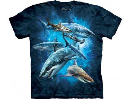 Tričko Žraločí koláž - Dětské