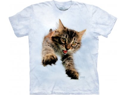 Dětské Tričko Vrhající se Kočička
