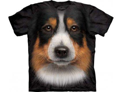 Tričko Australský Shepherd Psí Tvář