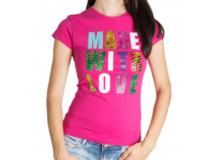Dámské Tričko Made With Love