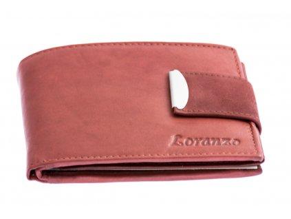Pánská peněženka s přezkou - bordó