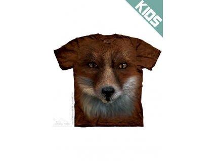 Tričko s potiskem liška - Dětské