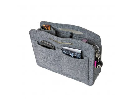 Organizér do kabelky - šedý