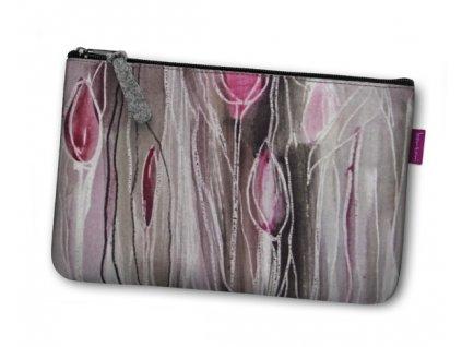 Kosmetická eko taška Tulipány