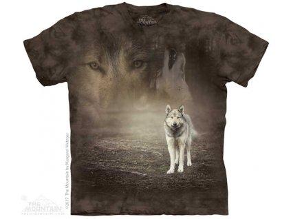 Dětské Tričko Bílý vlk v lese