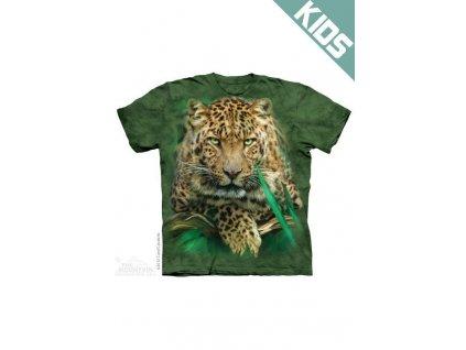 Tričko s potiskem majestátní leopard - Dětské