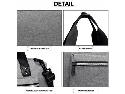 Mateřská cestovní taška - šedá