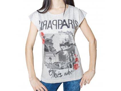 Dámské tričko s potiskem - Paříž