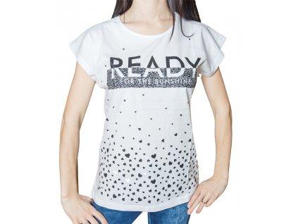 Dámské tričko s potiskem - Ready