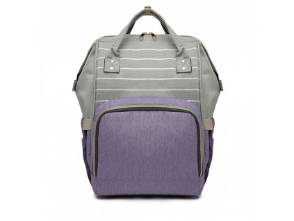 Cestovní batoh - lila-šedý Stripe