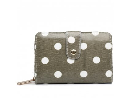 Dámská peněženka - šedá puntík - malá