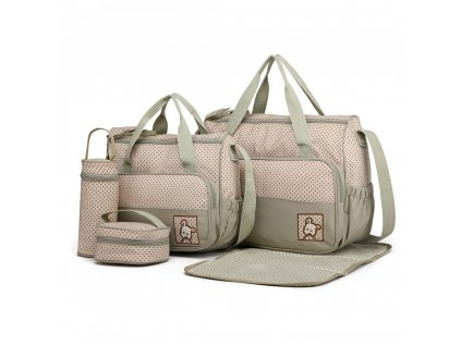 Sada Mateřské tašky a doplňky - 5 kusů - Šedá
