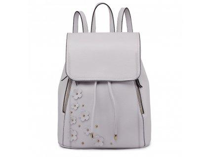 Elegantní batoh - Romantic - světlo šedý