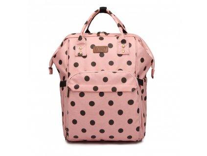 Cestovní batoh - růžový - puntík