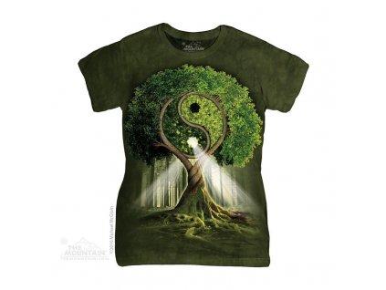 Tričko Ying Yang strom - Dámské