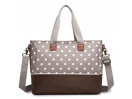 Vodotěsná přebalovací taška na kočárek - šedá - puntík