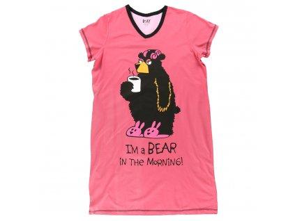 Dámská Noční Košile Medvěd