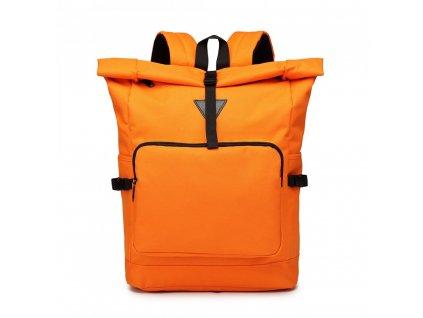 Prostorný cestovní batoh Oxford - oranžový