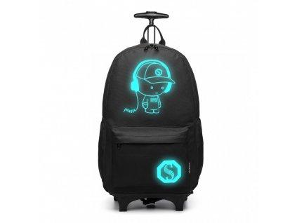 Batoh nebo zavazadlo na kolečkách - Černý