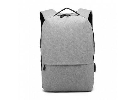 Chytrý batoh s USB portem- Knap - šedý
