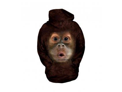 Dětská Mikina - Dítě Orangutan