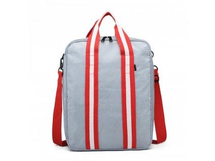 Pánská cestovní taška Travel - šedo-červená