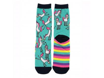 Dámské ponožky - Jednorožec