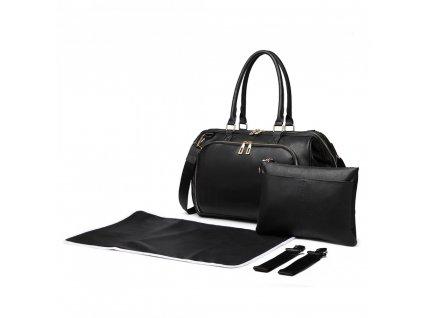 Přebalovací taška na kočárek Viktorie - černá