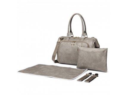 Přebalovací taška na kočárek Viktorie - šedá