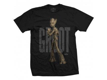 Tričko Groot Avengers - Černé