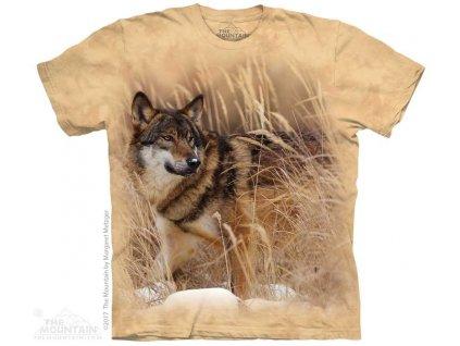 Tričko Vlk v poli
