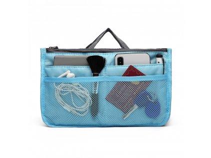 Šikovný organizér do kabelky - modrý