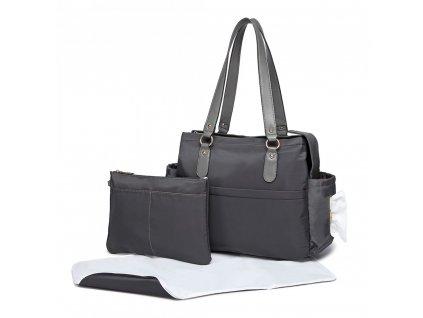 Přebalovací taška Amanda - Set 3 kusů - šedá