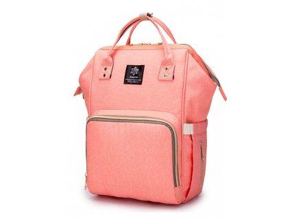 Multifunkční batoh na kočárek se zabudovaným ohřívačem a USB portem - Oranžový
