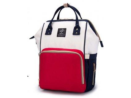 Multifunkční batoh na kočárek se zabudovaným ohřívačem a USB portem - Bílo Červený