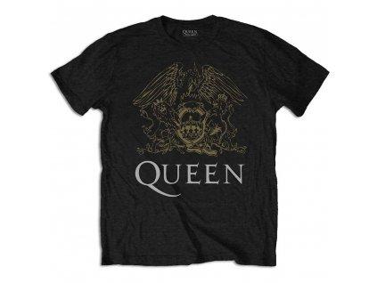 1317a0e9fc4 Tričko Queen Černo Zlaté