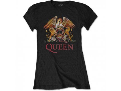 63c5c0c7cb6 Dámské Tričko Queen Černo Barevné